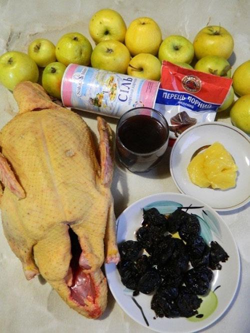 ингредиенты для запекания утки