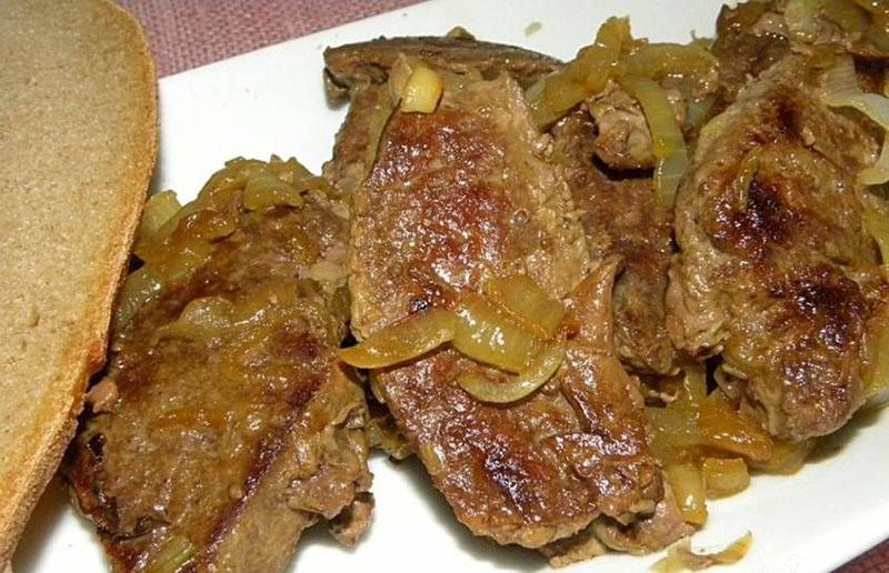 классические рецепты печени говяжьей жареной с луком