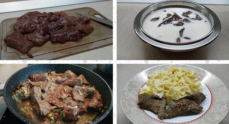 этапы приготовления говяжьей печени