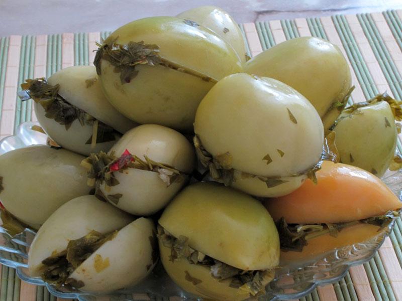простой рецепт очень вкусных зеленых помидоров на зиму