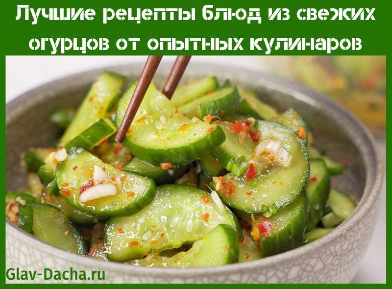 рецепты блюд из свежих огурцов