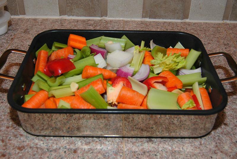 выбор овощей для запекания