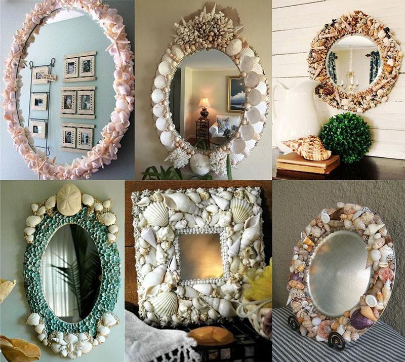 оригинальный декор старого зеркала своими руками