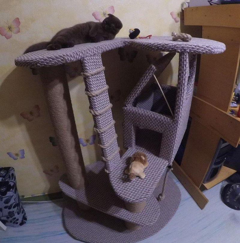 не просто домик для кошки своими руками
