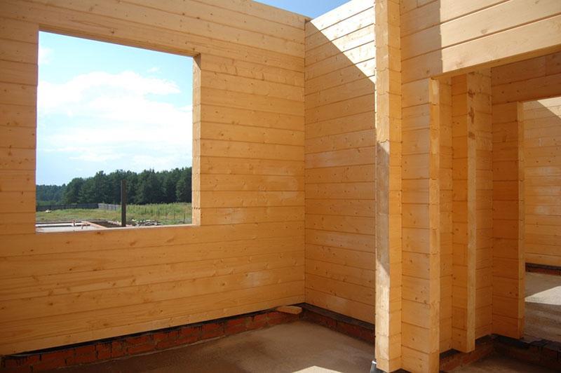 самостоятельное строительство дома из бруса
