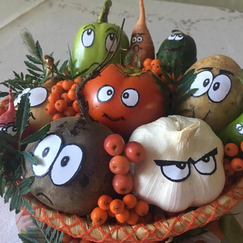 композиция из овощей