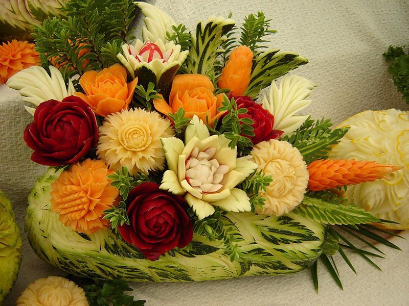 профессиональный карвинг из овощей и фруктов