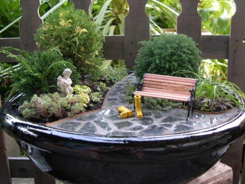 английский стиль мини сада