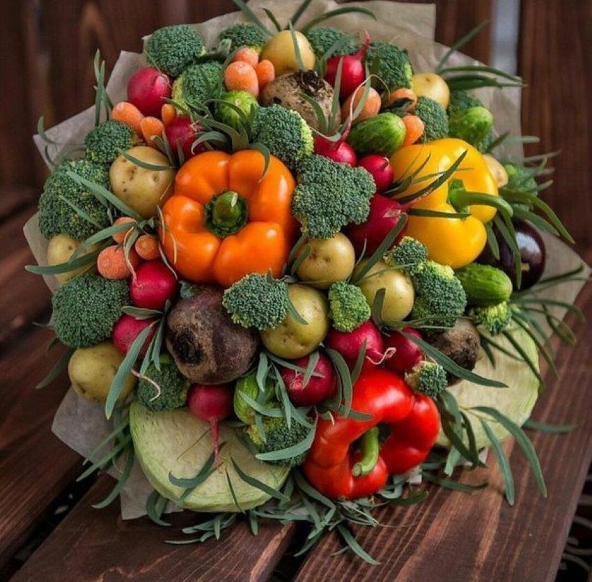 осенний букет своими руками из овощей