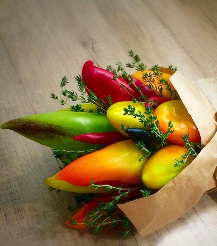 овощной букет из перцев