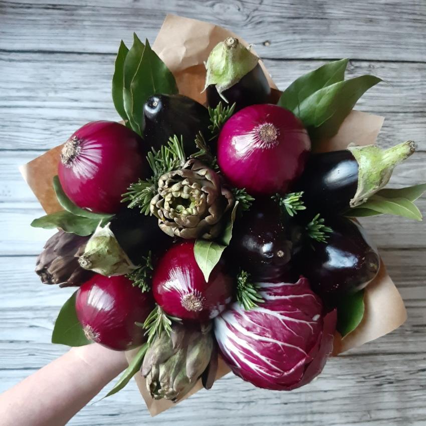овощной букет из баклажанов
