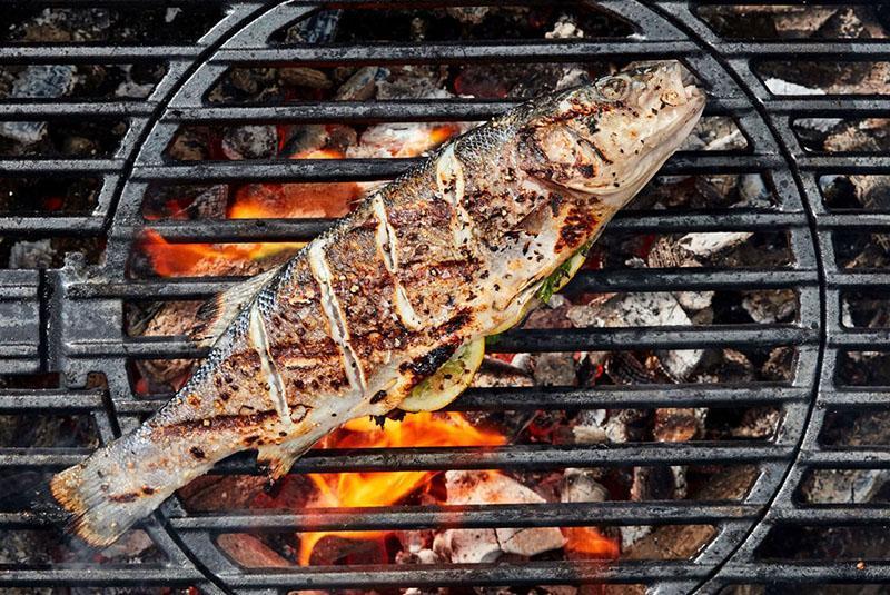 Время приготовления рыбы на гриле