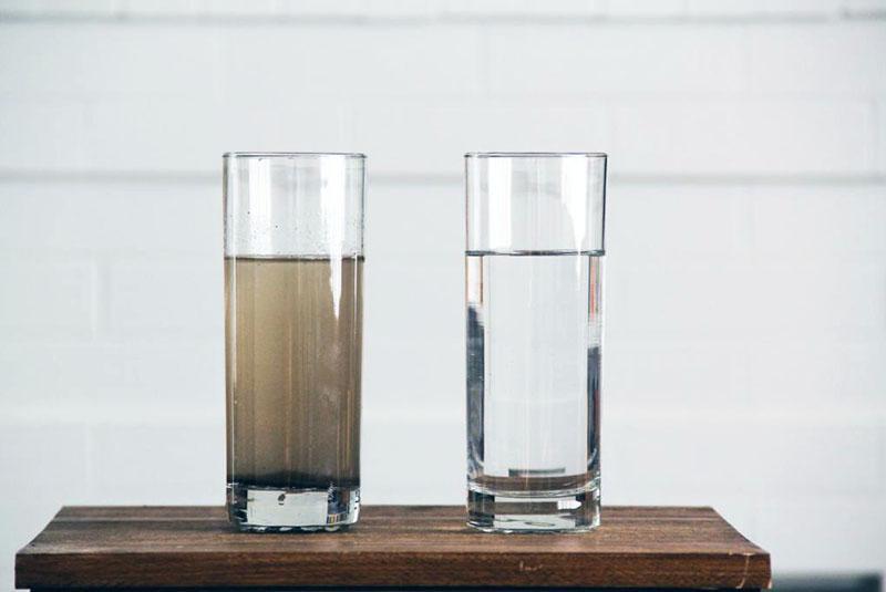 неочищенная и очищенная вода