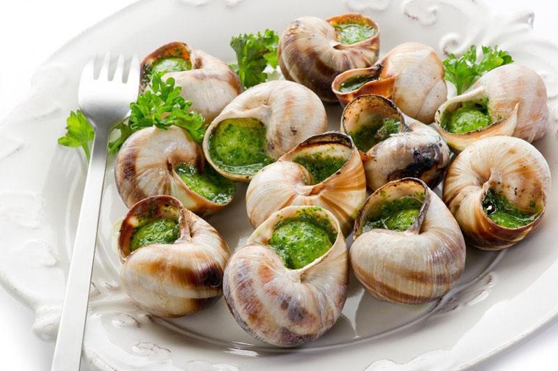 французское блюдо из улиток с чесноком