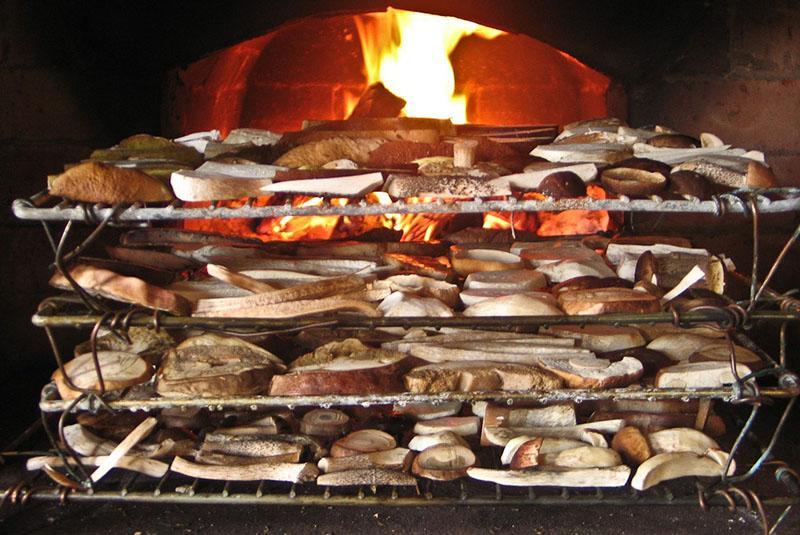 как сушить грибы в домашних условиях в печи