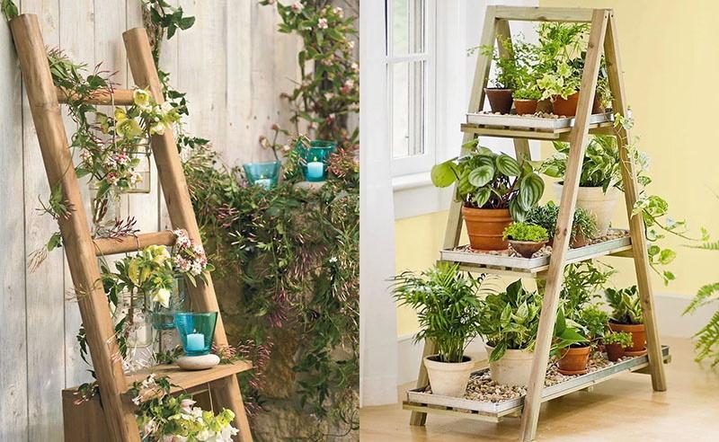 деревяные лестницы для цветов