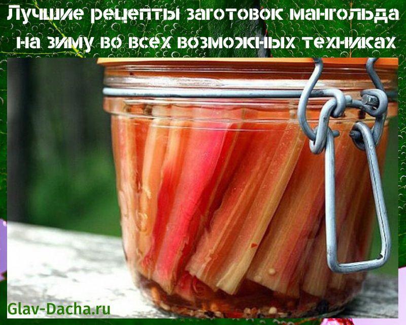 лучшие рецепты заготовок мангольда на зиму