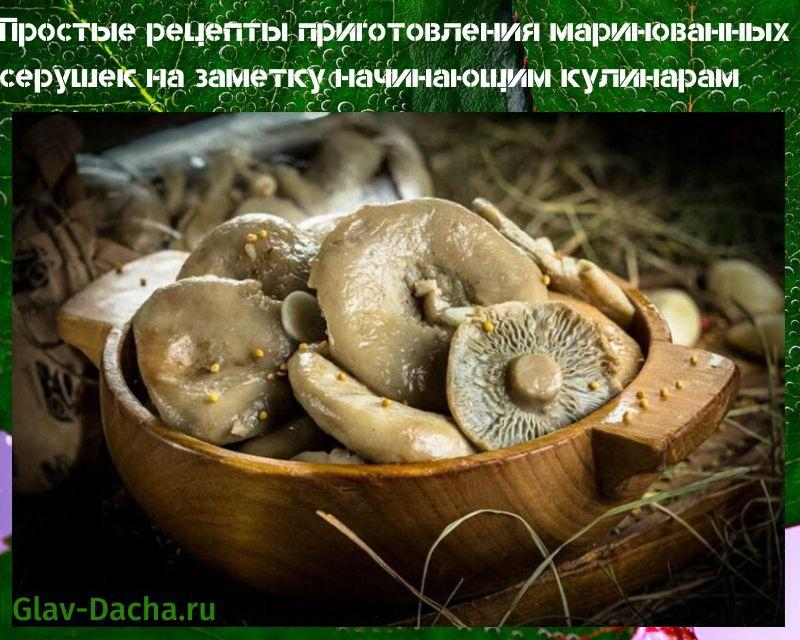 рецепты приготовления маринованных серушек