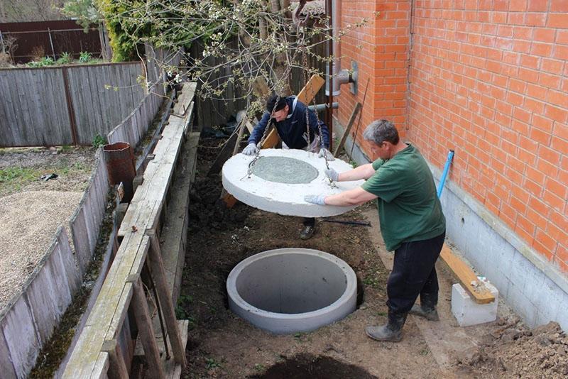 монтаж подземной системы сбора воды