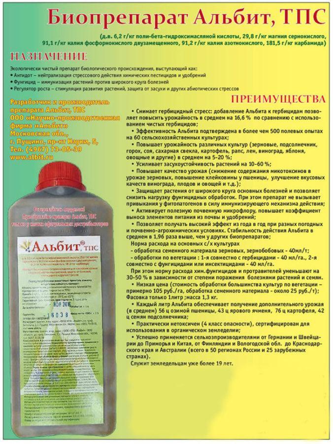 принцип действия препарата альбит