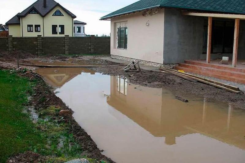 как определить высокий уровень грунтовых вод