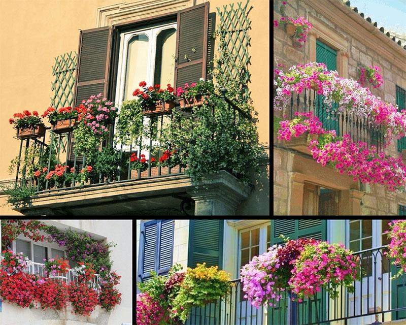 варианты оформления балконов