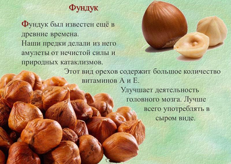 витамины А и Е в фундуке
