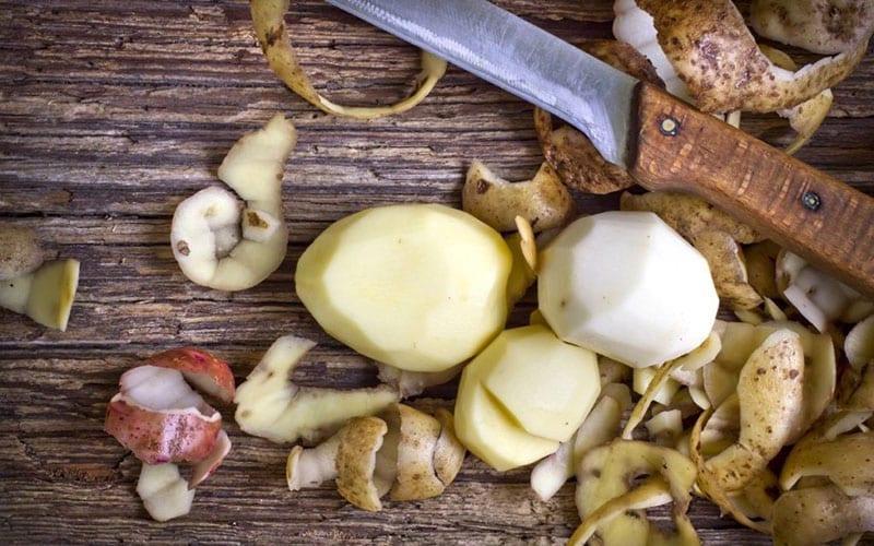 полезные картофельные очистки