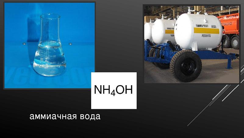 формула аммиачной воды