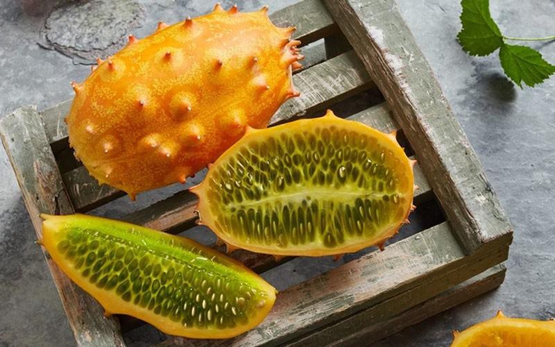 плоды кивано в разрезе