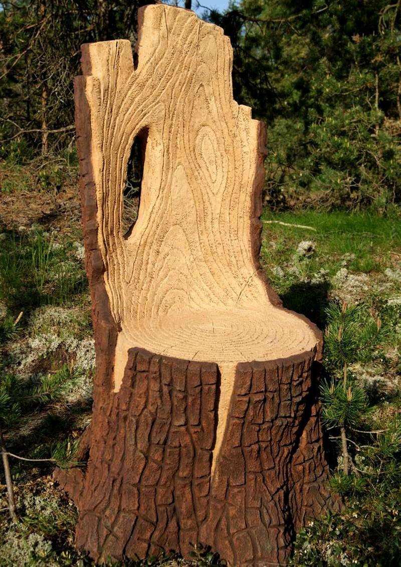 готовое кресло из пня