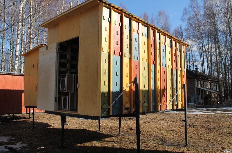 конструкция стационарного пчелопавильона