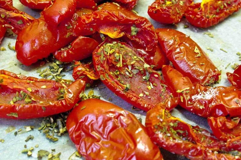 как сделать вкусные вяленые помидоры